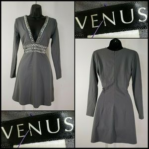 Venus Woman Beaded Sexy Stretch Beaded Short Dress